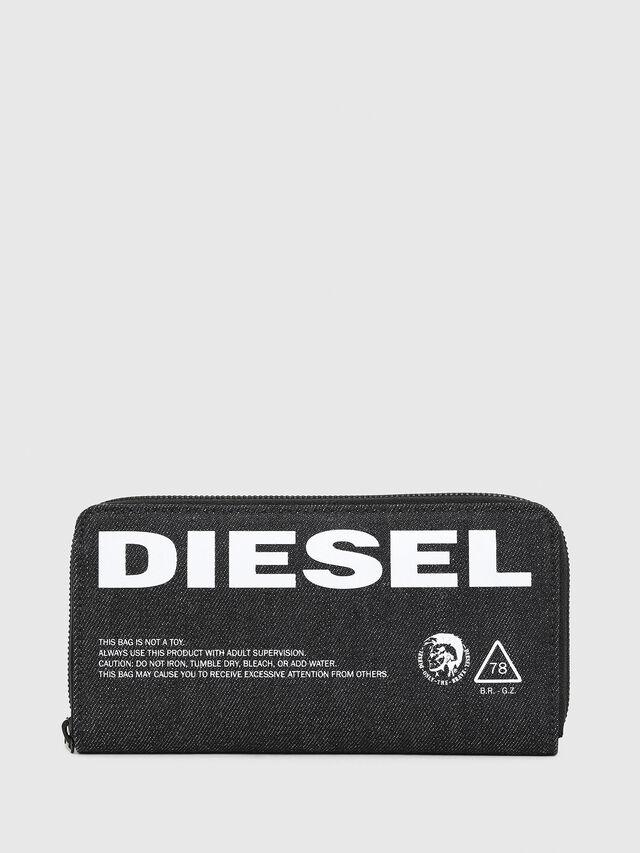 Diesel - 24 ZIP, Blue Jeans - Carteras Con Cremallera - Image 1