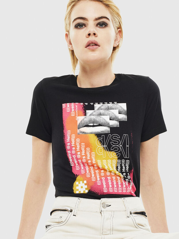 T-SILY-S5, Negro - Camisetas