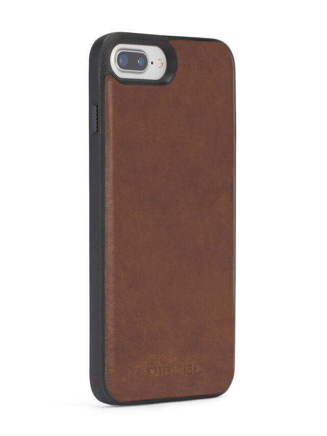 BROWN LEATHER IPHONE X CASE, Marrón