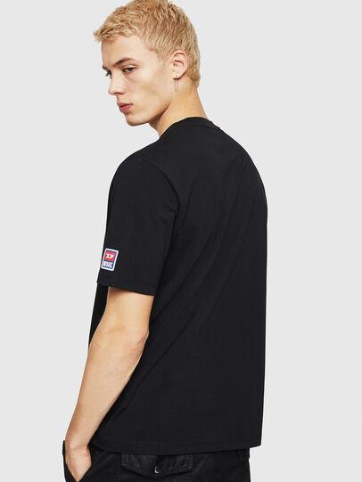 Diesel - T-JUST-DIVISION-D, Negro - Camisetas - Image 2