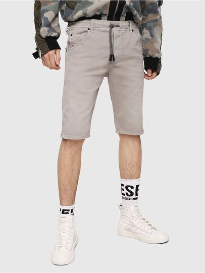 Diesel - D-KROOSHORT JOGGJEANS, Gris - Shorts - Image 1