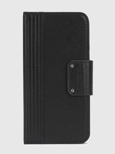 Diesel - BLACK LINED LEATHER IPHONE X FOLIO,  - Fundas tipo libro - Image 2