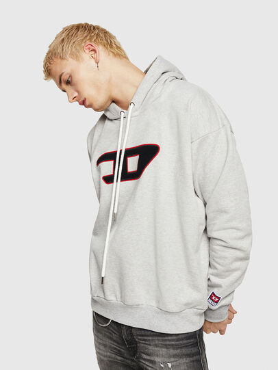 Diesel - S-DIVISION-D, Gris - Sudaderas - Image 1