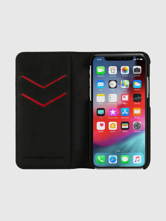 Diesel - DIESEL 2-IN-1 FOLIO CASE FOR IPHONE XS & IPHONE X, Negro/Blanco - Fundas tipo libro - Image 6
