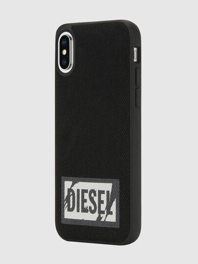 Diesel - BLACK DENIM IPHONE X CASE, Negro - Fundas - Image 5