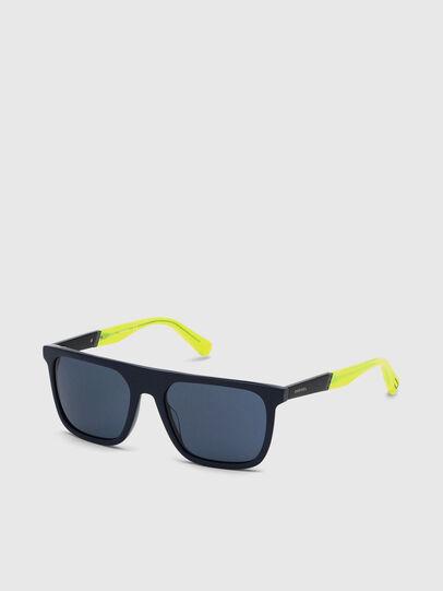 Diesel - DL0299, Azul/Amarillo - Gafas de sol - Image 2