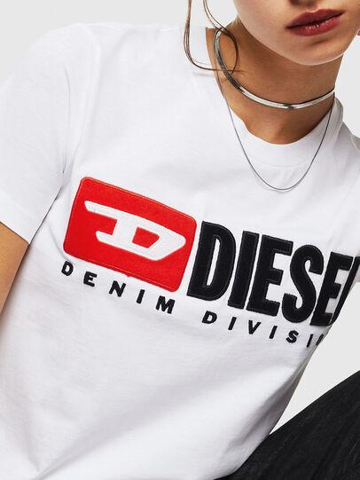 Diesel - T-SILY-DIVISION, Blanco - Camisetas - Image 3