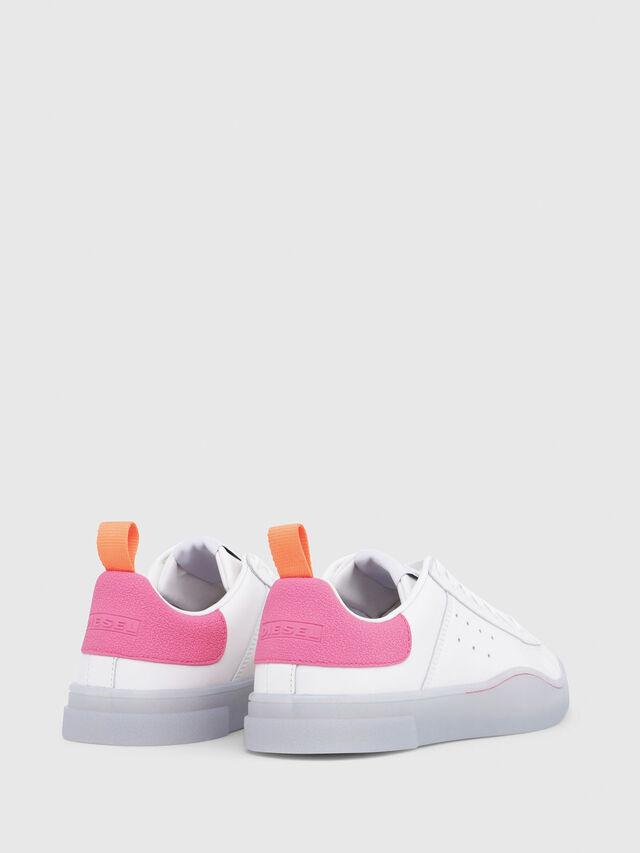 Diesel - S-CLEVER LOW W, Blanco/Rosa - Sneakers - Image 3