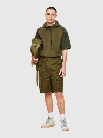 Diesel - P-CYAN-SHORT, Verde Militar - Shorts - Image 5