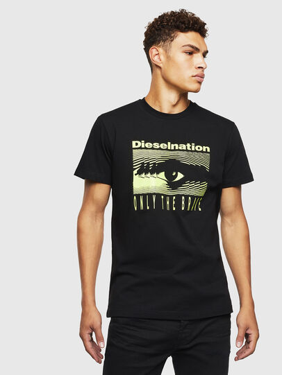 Diesel - T-DIEGO-J4, Negro - Camisetas - Image 1