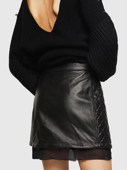 Diesel - OLESIA, Negro - Faldas en piel - Image 2