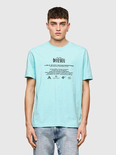 Diesel - T-JUST-E9, Azul Claro - Camisetas - Image 1
