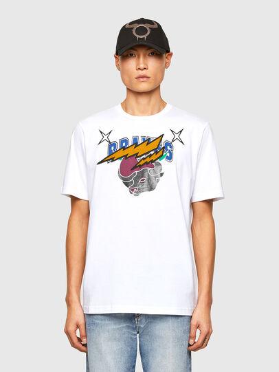 Diesel - CL-T-JUST-O1, Blanco - Camisetas - Image 1
