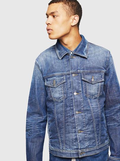 Diesel - NHILL-TW, Blue Jeans - Chaquetas de denim - Image 1