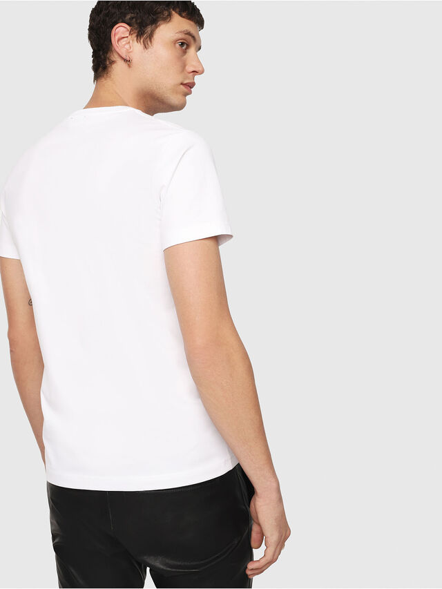 Diesel T-DIEGO-QA, Blanco - Camisetas - Image 2