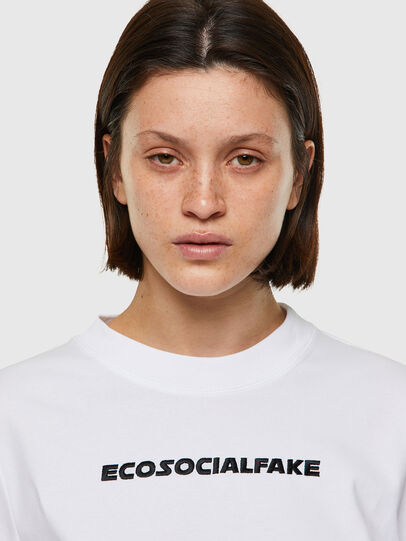 Diesel - T-RECROP, Blanco - Camisetas - Image 3