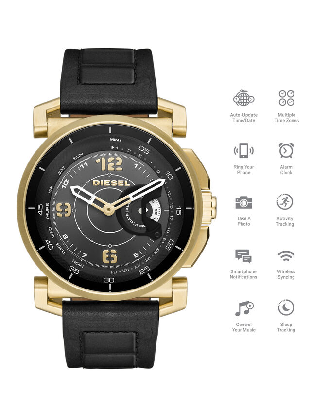 Diesel - DT1004, Negro - Smartwatches - Image 1