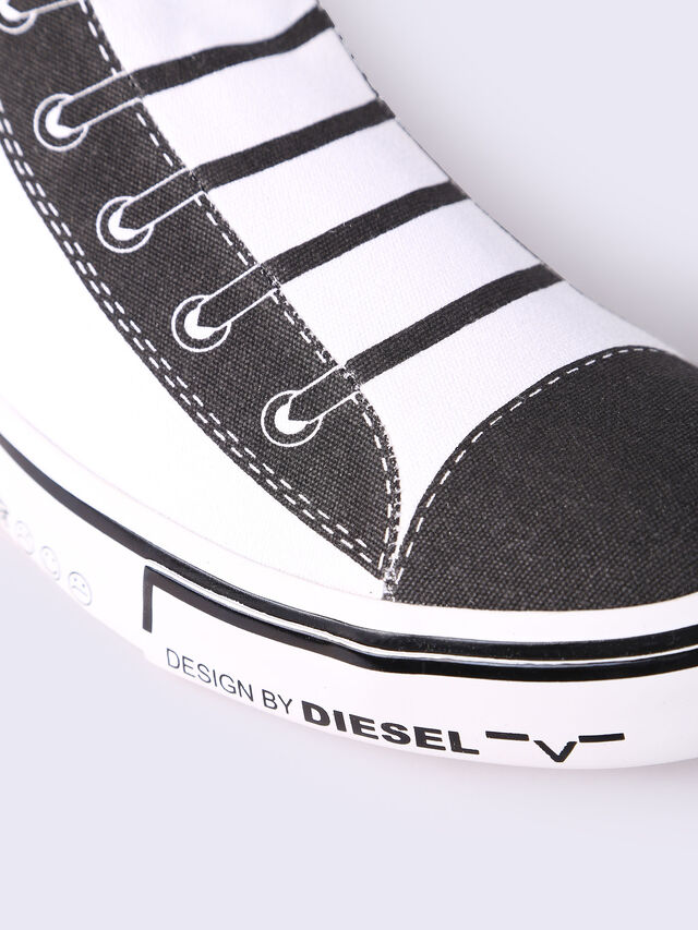 S-DIESEL IMAGINEE MID SLIP-ON, Blanco/Negro