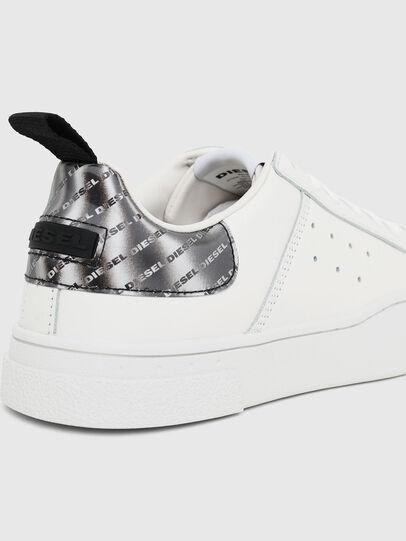 Diesel - S-CLEVER LOW W, Blanco/Plateado - Sneakers - Image 4