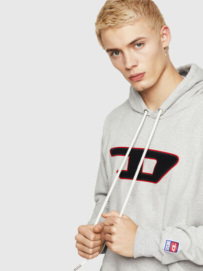 Diesel - S-DIVISION-D, Gris - Sudaderas - Image 3