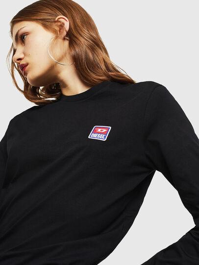 Diesel - T-DIEGO-DIV-LS, Negro - Camisetas - Image 6