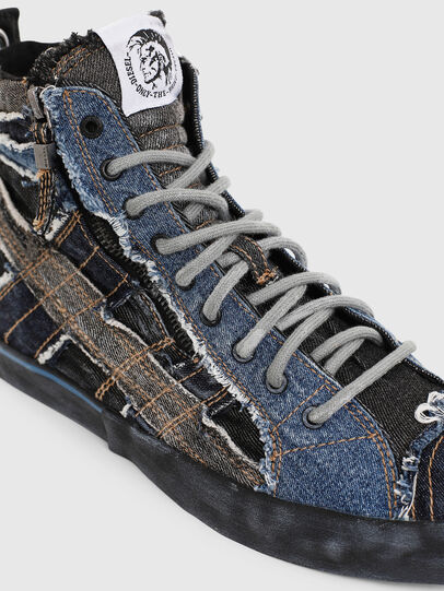 Diesel - D-VELOWS MID LACE, Negro/Azul - Sneakers - Image 4