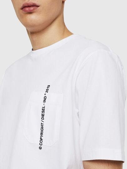 Diesel - T-JUST-POCKET-COPY, Blanco - Camisetas - Image 3