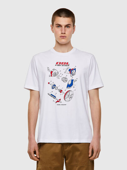 Diesel - T-JUST-B53, Blanco - Camisetas - Image 1