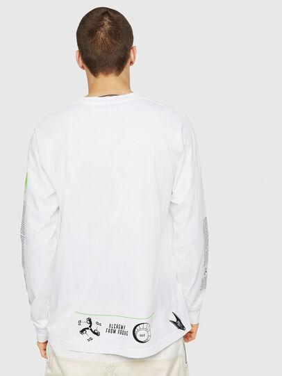 Diesel - T-JUST-LS-NEW, Blanco - Camisetas - Image 2