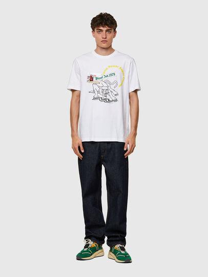 Diesel - T-JUST-B60, Blanco - Camisetas - Image 4
