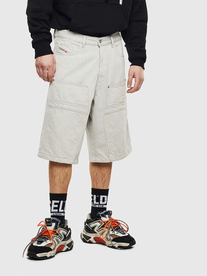 Diesel - D-RON, Blanco - Shorts - Image 1