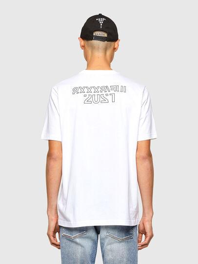 Diesel - CL-T-JUST-O1, Blanco - Camisetas - Image 3