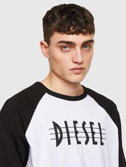 Diesel - T-BEISBOL, Blanco - Camisetas - Image 3