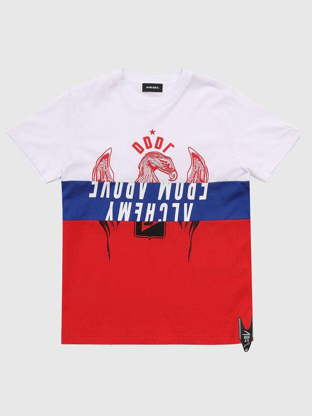 TJUSTA1, Blanco/Rojo/Azul - Camisetas y Tops