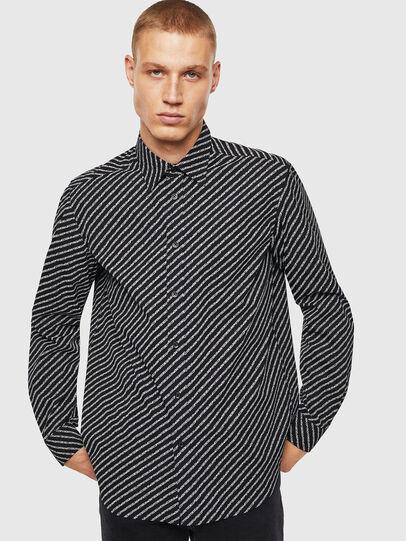 Diesel - S-PENN-COPY, Negro - Camisas - Image 1