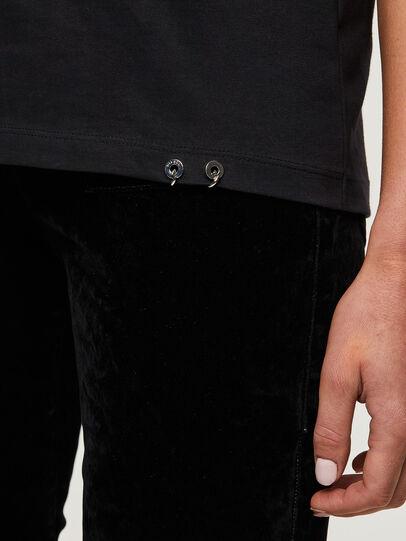 Diesel - T-SILY-R3, Negro/Rosa - Camisetas - Image 4