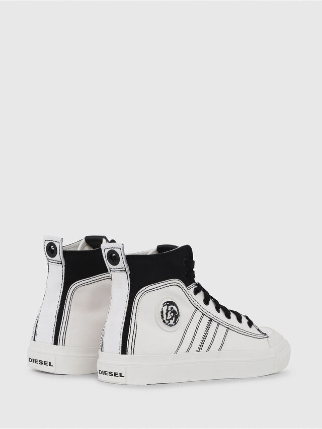 Diesel - S-ASTICO MID LACE, Blanco/Negro - Sneakers - Image 3