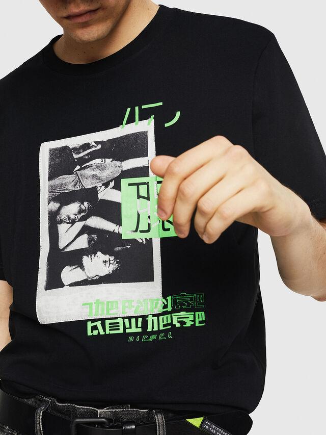 Diesel - T-JUST-Y21, Negro - Camisetas - Image 3