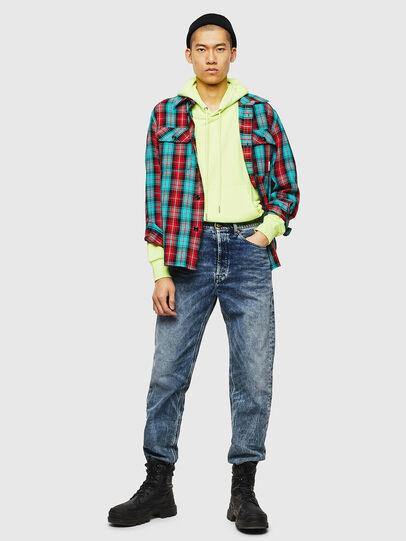 Diesel - S-GERRY-CHECK, Rojo - Camisas - Image 6