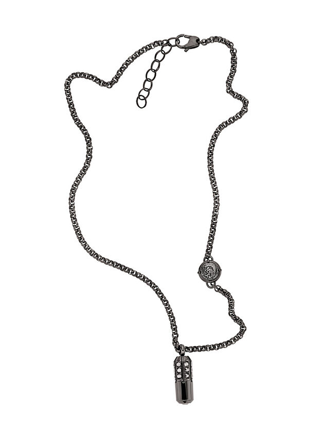 NECKLACE DX1026, Gris oscuro