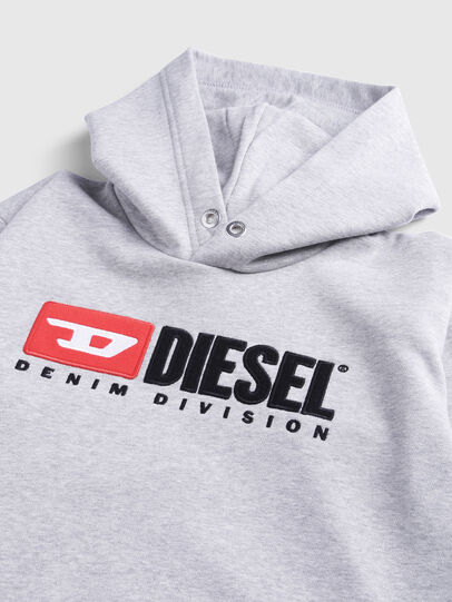 Diesel - SDIVISION OVER, Gris - Sudaderas - Image 3