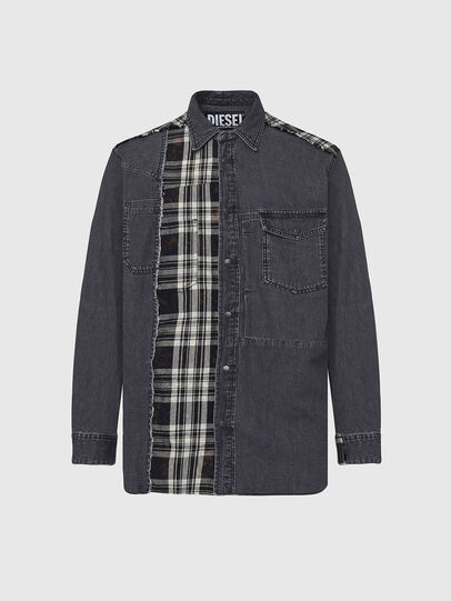 Diesel - D-FINLY, Gris oscuro - Camisas de Denim - Image 1