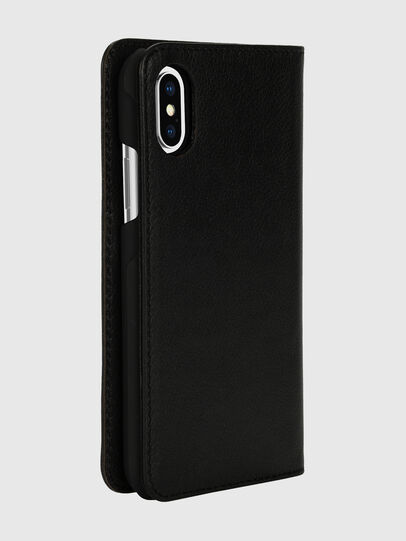 Diesel - DIESEL 2-IN-1 FOLIO CASE FOR IPHONE XS & IPHONE X, Negro/Blanco - Fundas tipo libro - Image 4