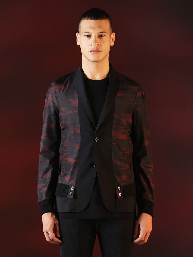 Diesel - DVL-JACKET-SPECIAL COLLECTION, Negro - Chaquetas - Image 1
