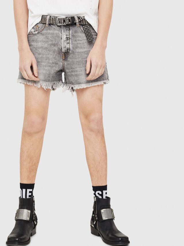 Diesel - D-KORT, Gris Claro - Shorts - Image 1