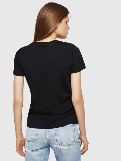 Diesel - T-SILY-DIVISION, Negro - Camisetas - Image 2