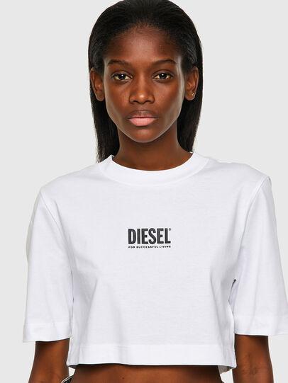Diesel - T-RECROP-ECOSMALLOGO, Blanco - Camisetas - Image 3