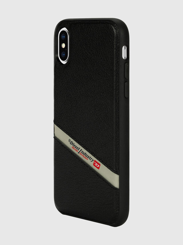 Diesel - DIESEL LEATHER CO-MOLD CASE FOR IPHONE XS & IPHONE X, Negro - Fundas - Image 5