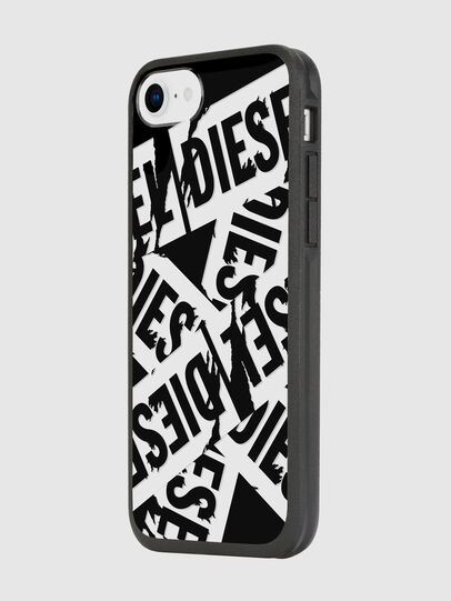 Diesel - MULTI TAPE BLACK/WHITE IPHONE 8/7/6S/6 CASE, Negro - Fundas - Image 5