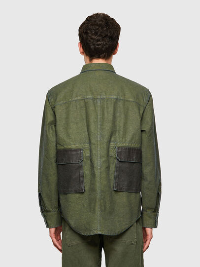 Diesel - D-CORU-SP, Verde Militar - Camisas de Denim - Image 2